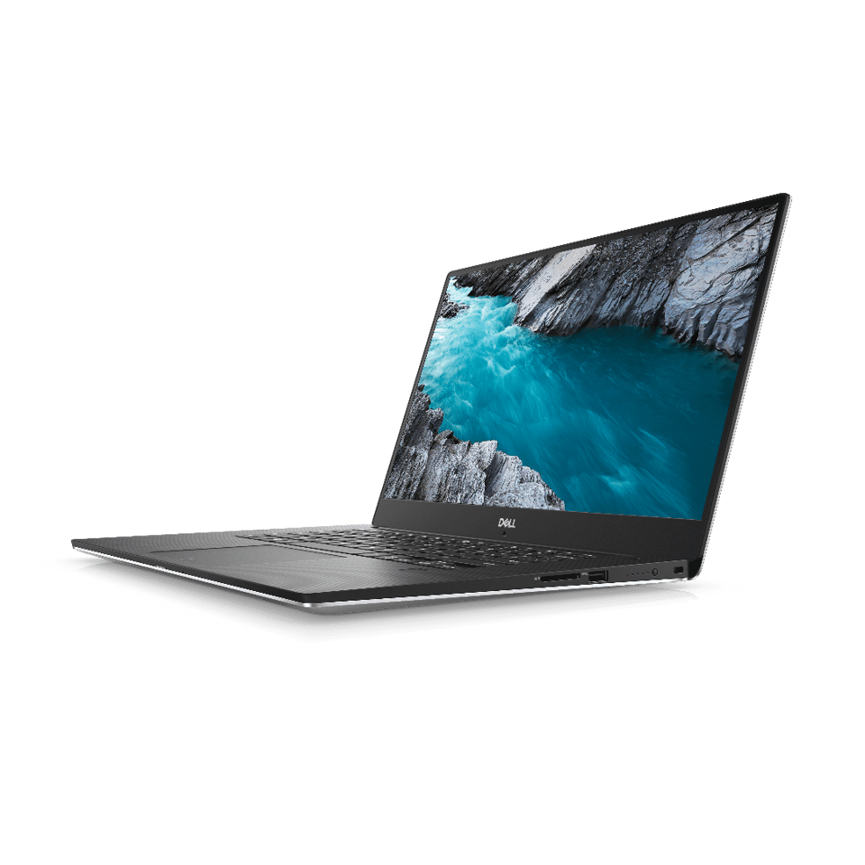 The Dell XPS 15 can be had with an 8th Gen Core-i5 (up to 4 GHz), Core i7 (up to 4.1 GHz) or Core i9 processor