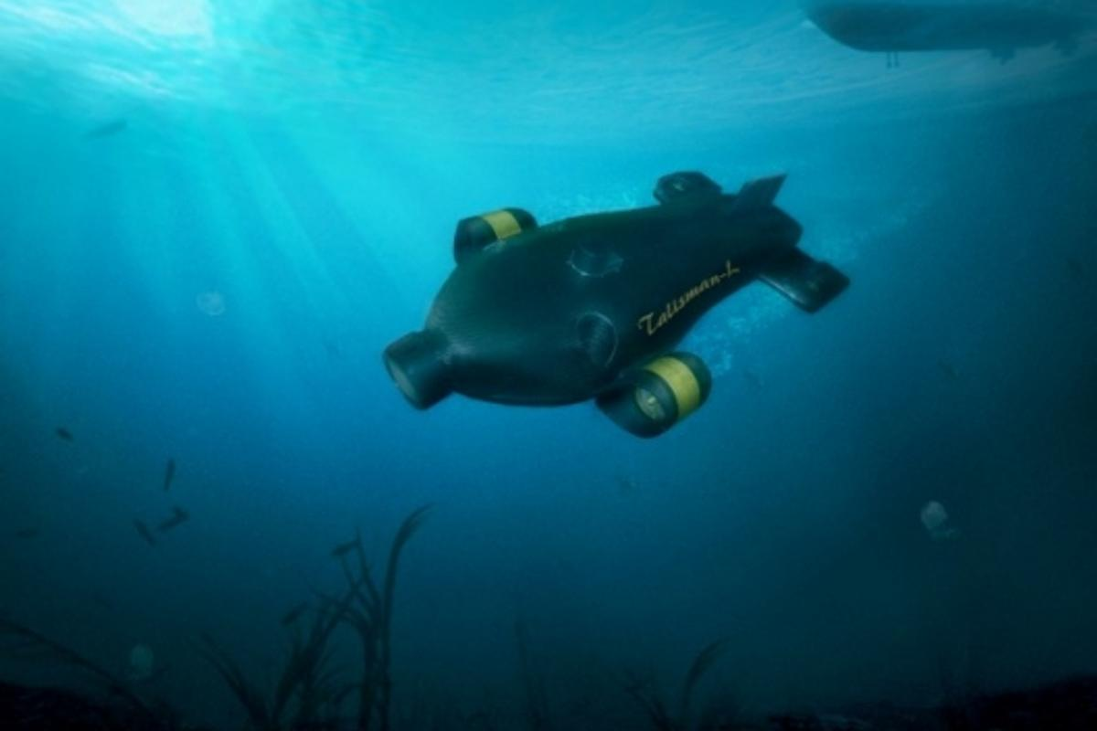 The BAE Systems Talisman L unmanned mini sub will provide underwater security patrols for ports and coastlines