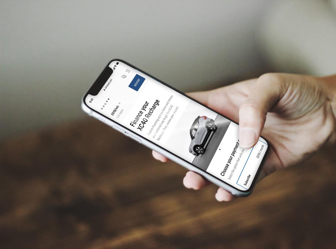 Volvo will be rolling out an updated Care by Volvo app that includes online sales for EVs like the C40 Recharge