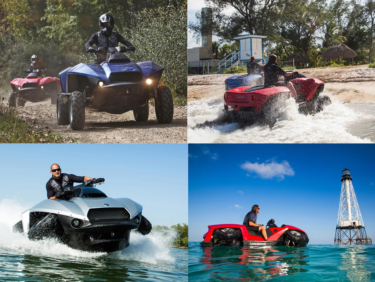 The Gibbs Quadski has been available for many years as a single seater, and now offers a dual seat, and is fast developing a global dealer network.
