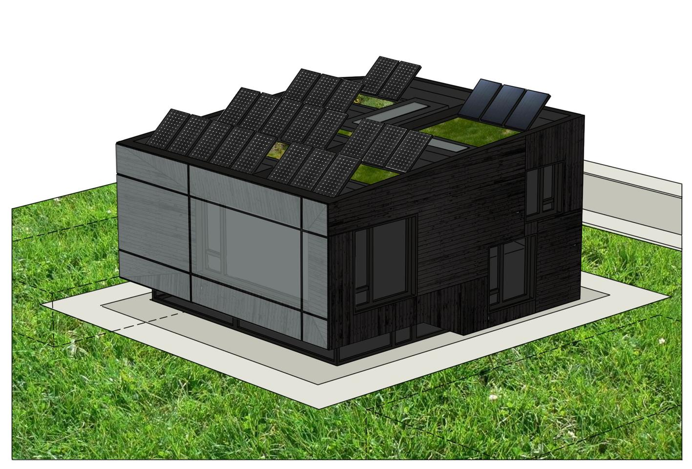 dontDIY's thoughtful Passive house design has won an international competition to design an ultra-low energy house to be built in Bulgaria (Image: Passive House Bulgaria)