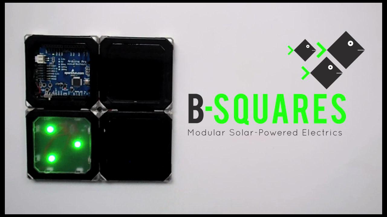 B-Squares are flat electronic modules that can be joined together in different configurations, to create different devices