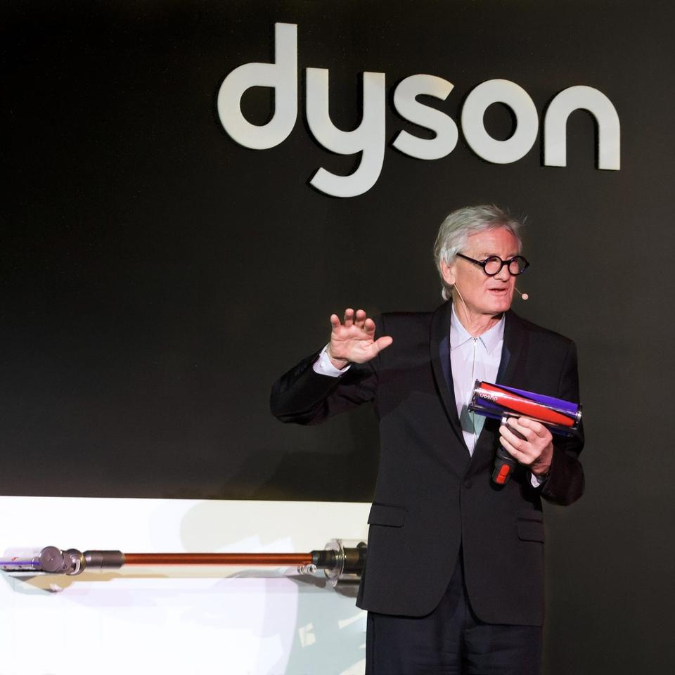 """We're not putting any more development costs into machines that have a cord, because we believe this is the future,"" said James Dyson at the product launch"