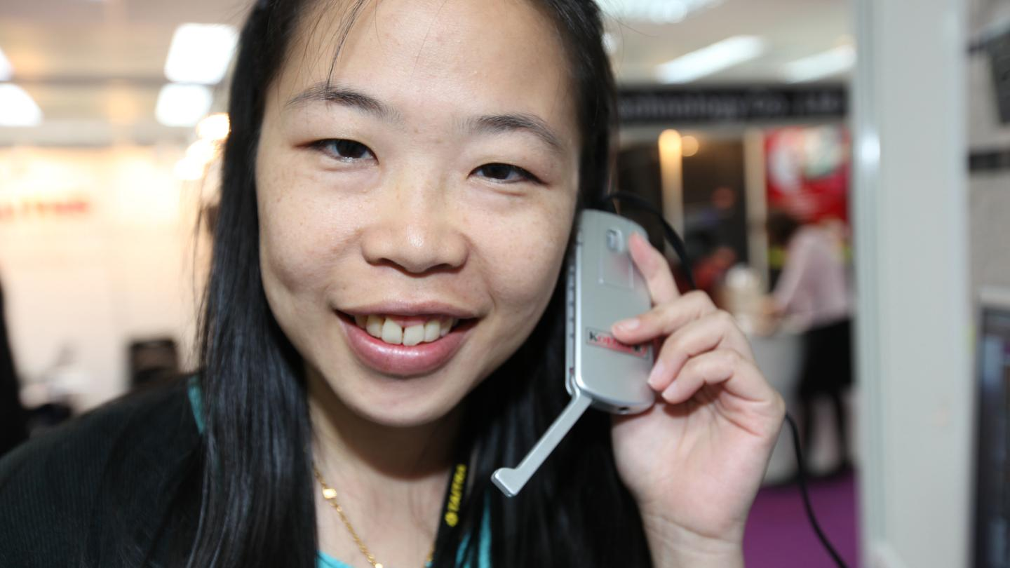 The Koegler AudioMouse combines a computer mouse with a phone