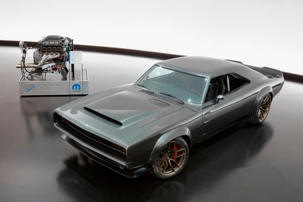 To showcase the Hellephant engine's capability, Mopar put it into this Charger  demonstration vehicle