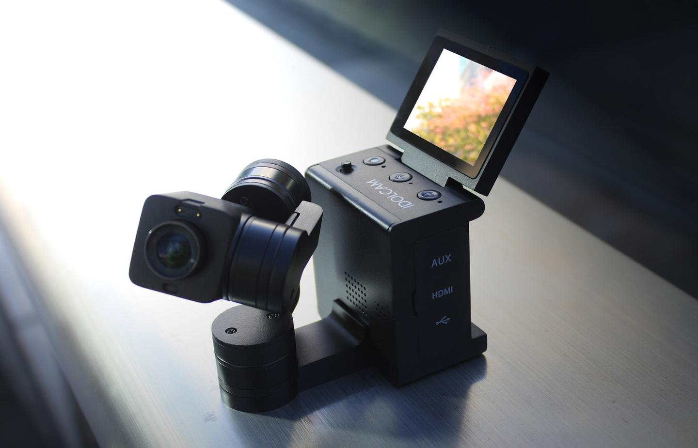 The Idolcam has a 180-degree flip-up touchscreen