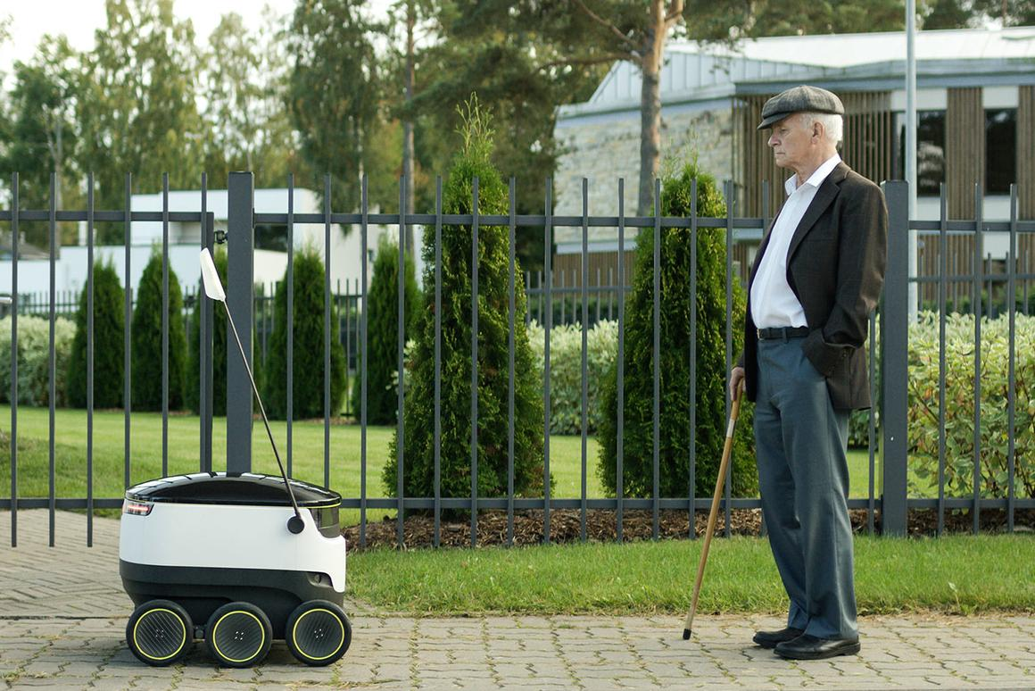 The Starship robots are designed to operate on pedestrian pavements