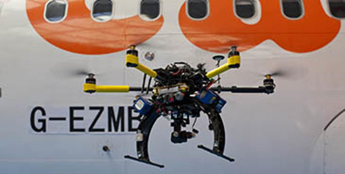 The drones will be used to speed inspection of the easyJet fleet (Photo: easyJet)