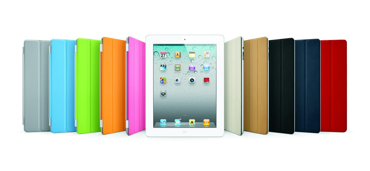 The new smart covers attach to the screen using magnets, which also guide the cover into position
