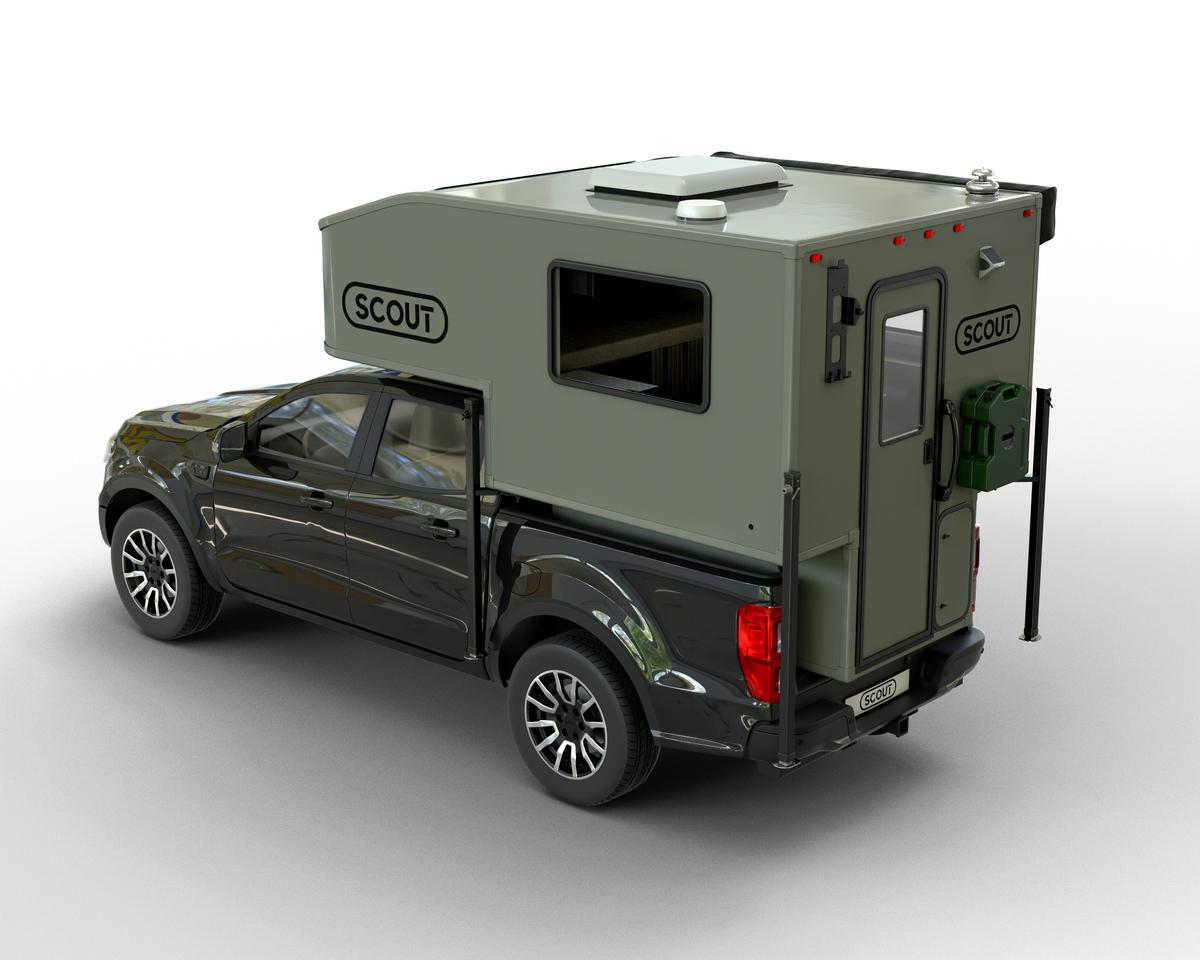 With its 913-lb base weight, the Scout Yoho debuts with claims of being the world's lightest hard-walled pickup camper