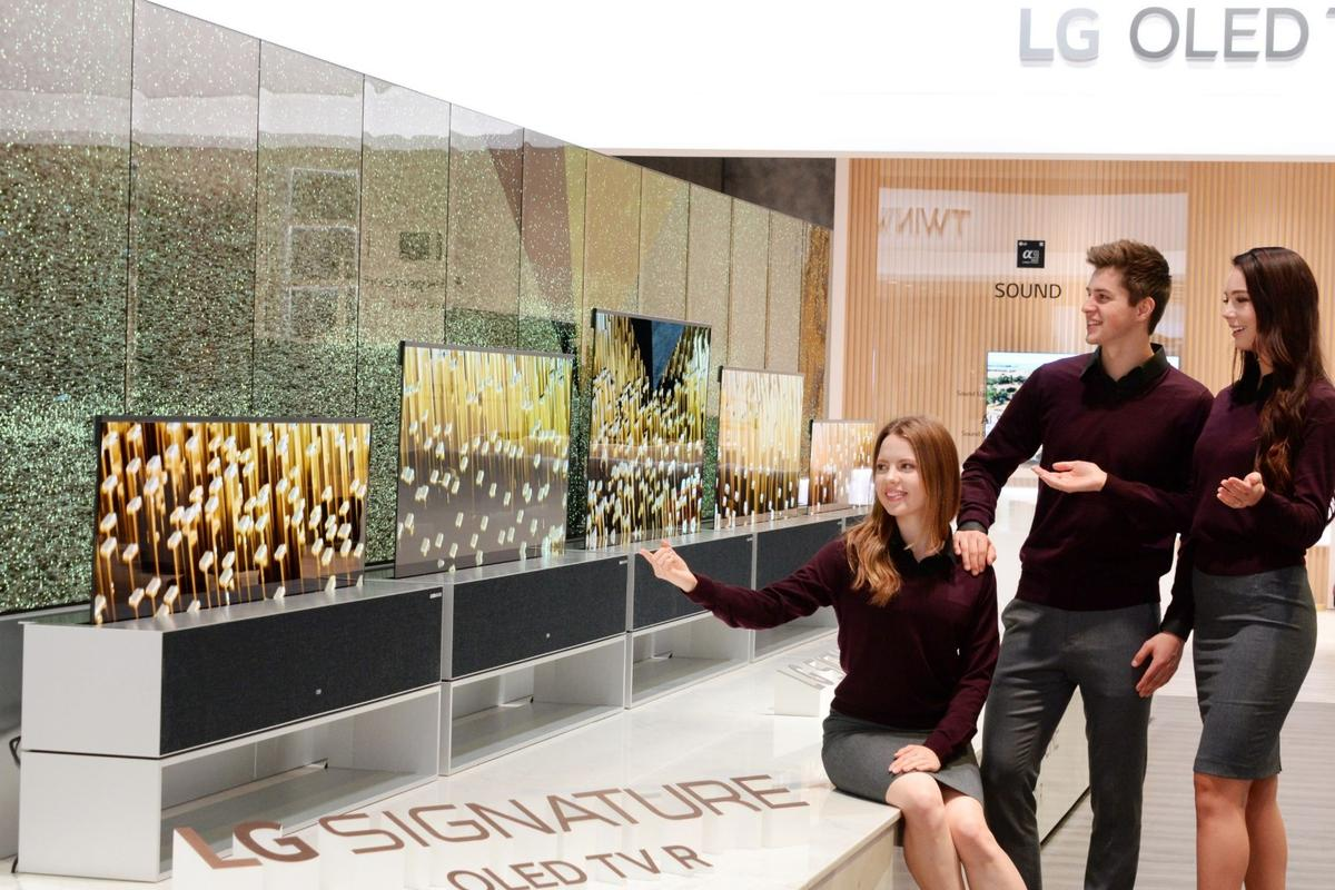 The LG Signature OLED TV R is being debuted this week at CES in Las Vegas
