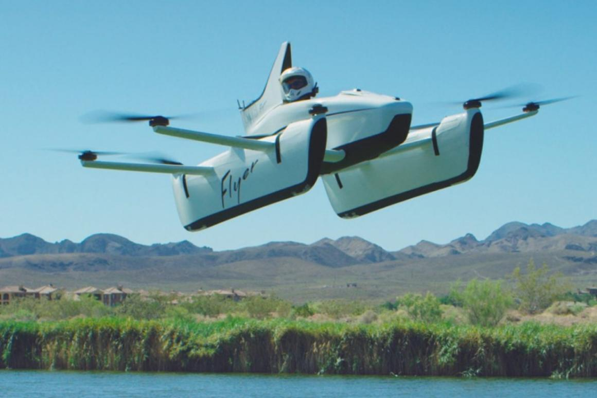 With pontoon-shaped landing skids, the Flyer is clearly designed to be flown over water
