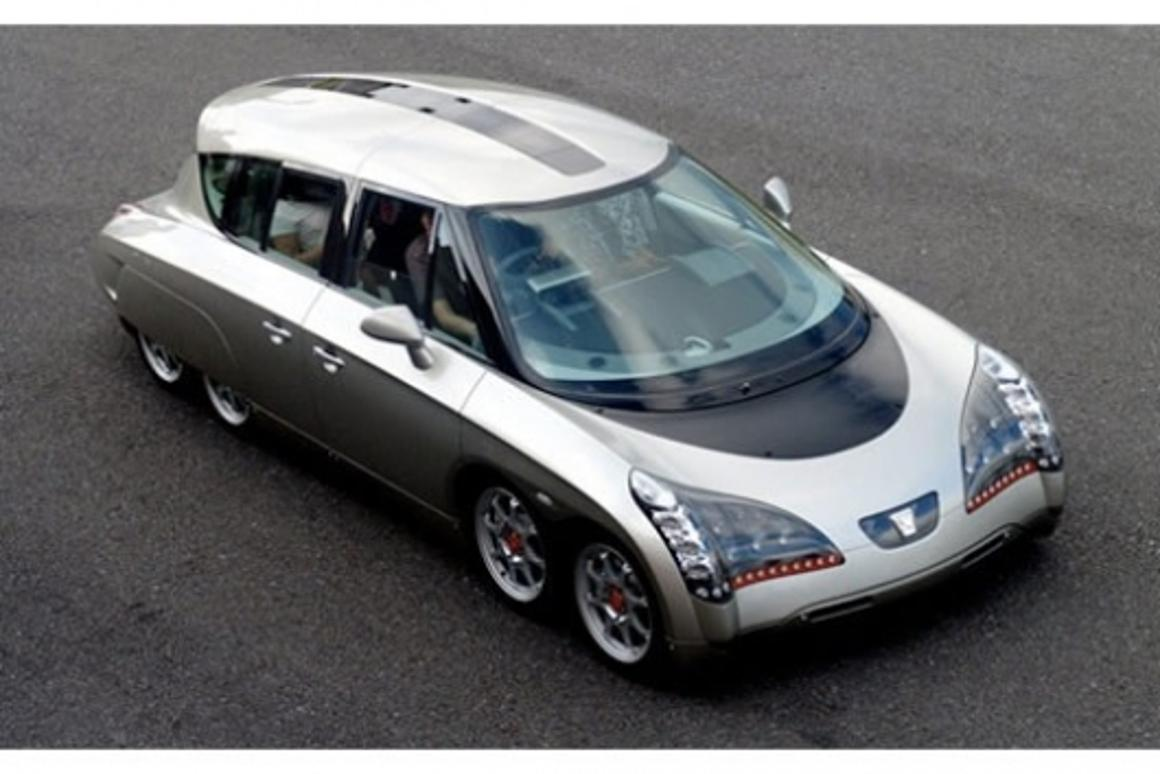 The Eliica eight-wheeled electric supercar