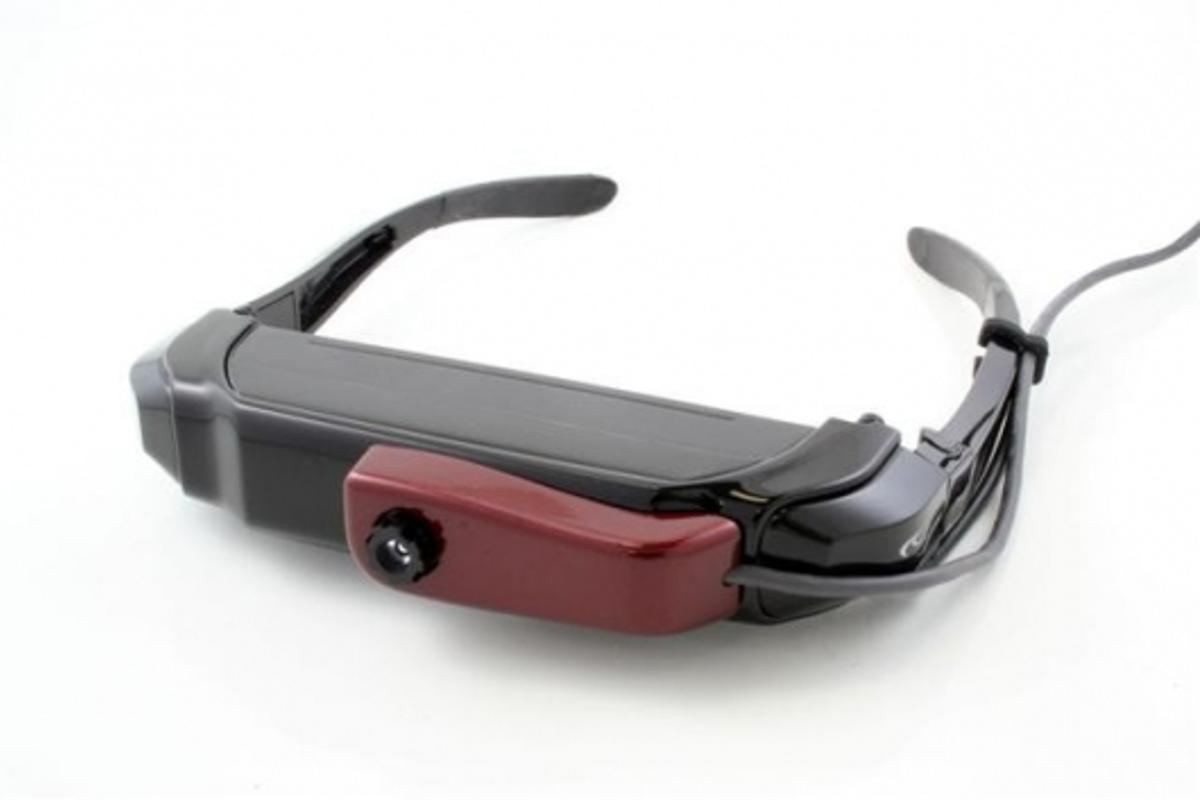 The VR920 Virtual Reality Video iWear with CamAR attached