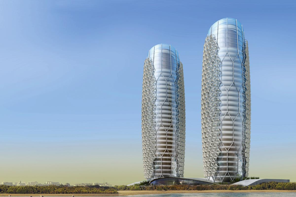 The Aedas-designed Al Bahr Towers (Image: Aedas)