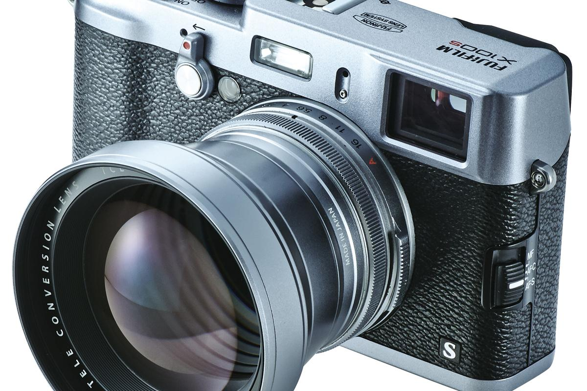 The Fujifilm TCL-X100 tele-conversion lens gives a 50-mm equivalent focal length
