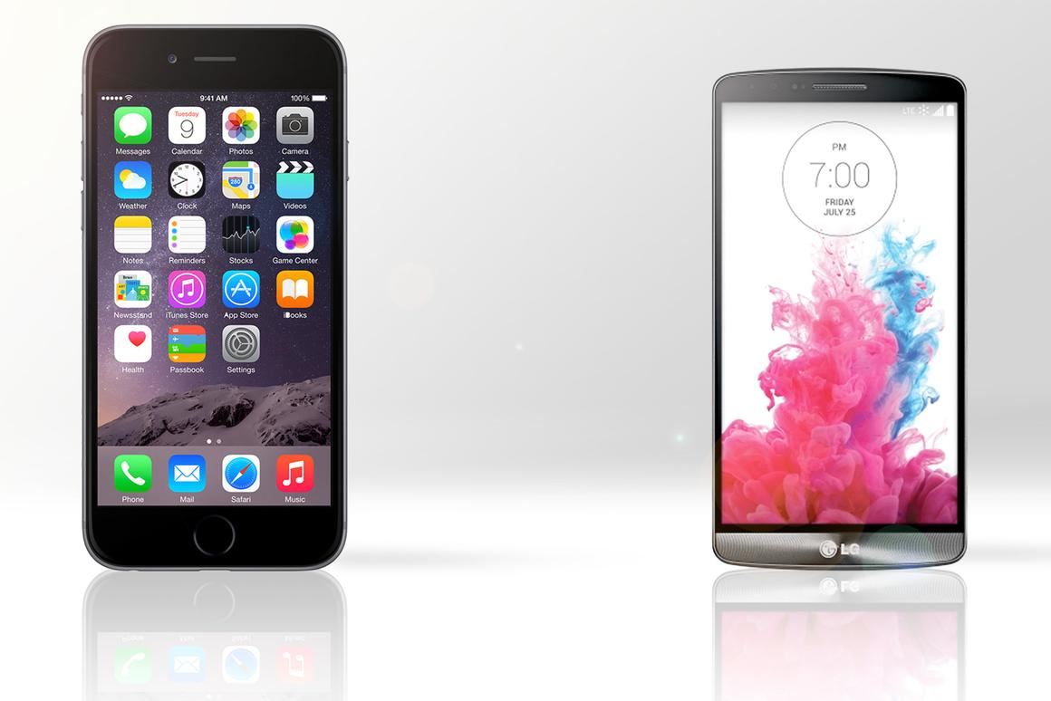 Gizmag compares the features and specs of the iPhone 6 Plus and LG G3