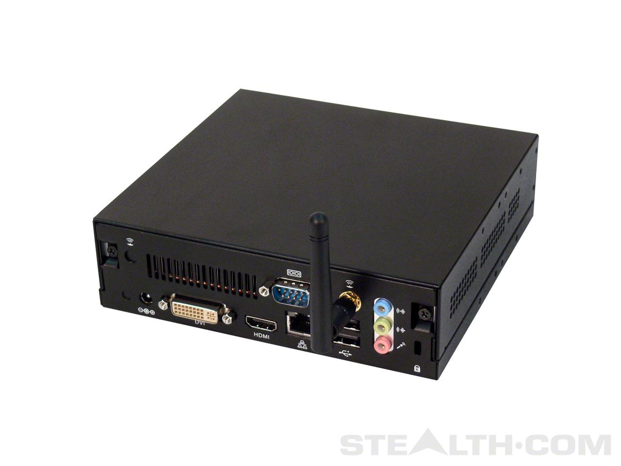 The LPC-670 connectivity options include Gigabit LAN, an optional Wi-Fi 802.11g card and antenna, four USB 2.0 ports, RS232 COM port, DVI-I video connector, audio in and out, and a HDMI port