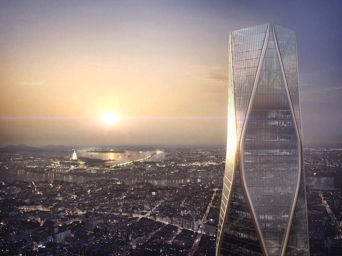The Hangzhou Wangchao Centerwill comprise 125,000 sq m (1.3 million sq ft) of floorspace, spread over 54 floors