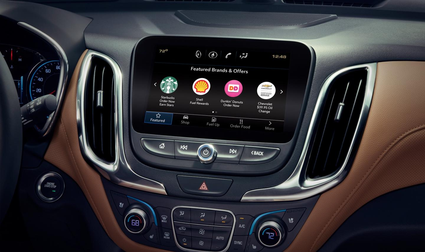 GM's Marketplace in-car e-commerce platform allows drivers to pay for items like coffee and fuel from a vehicle's dash