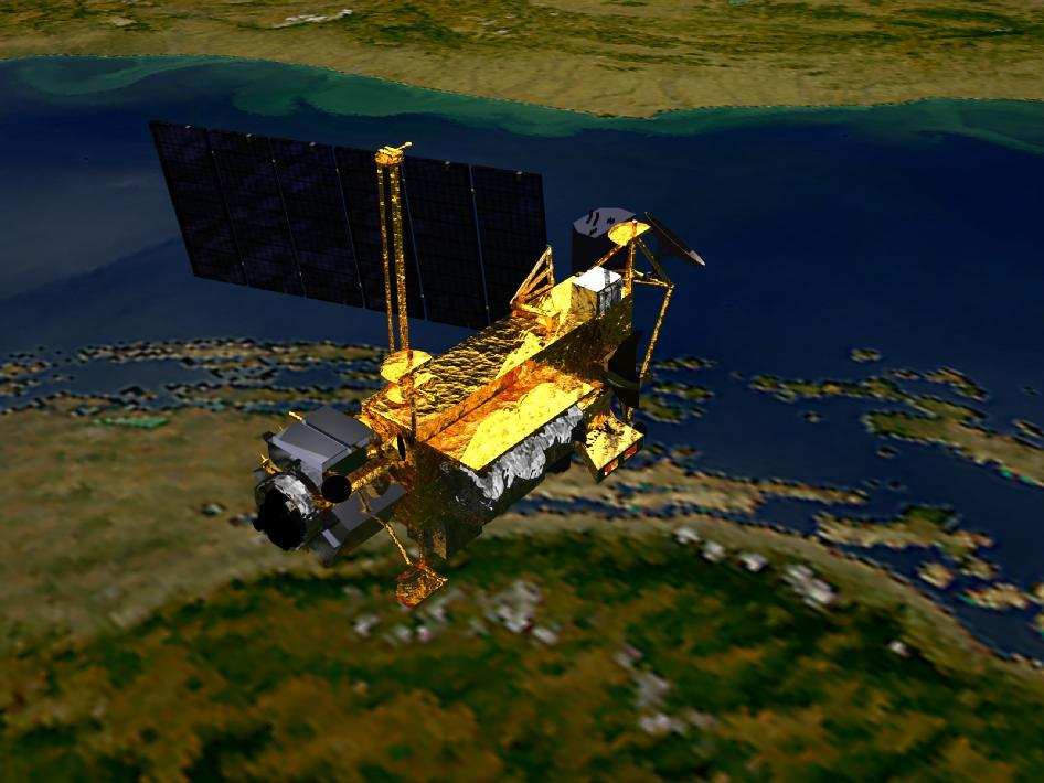 The NASA Upper Atmosphere Research Satellite (UARS) is now expected to crash on Friday 23 September (image by NASA)
