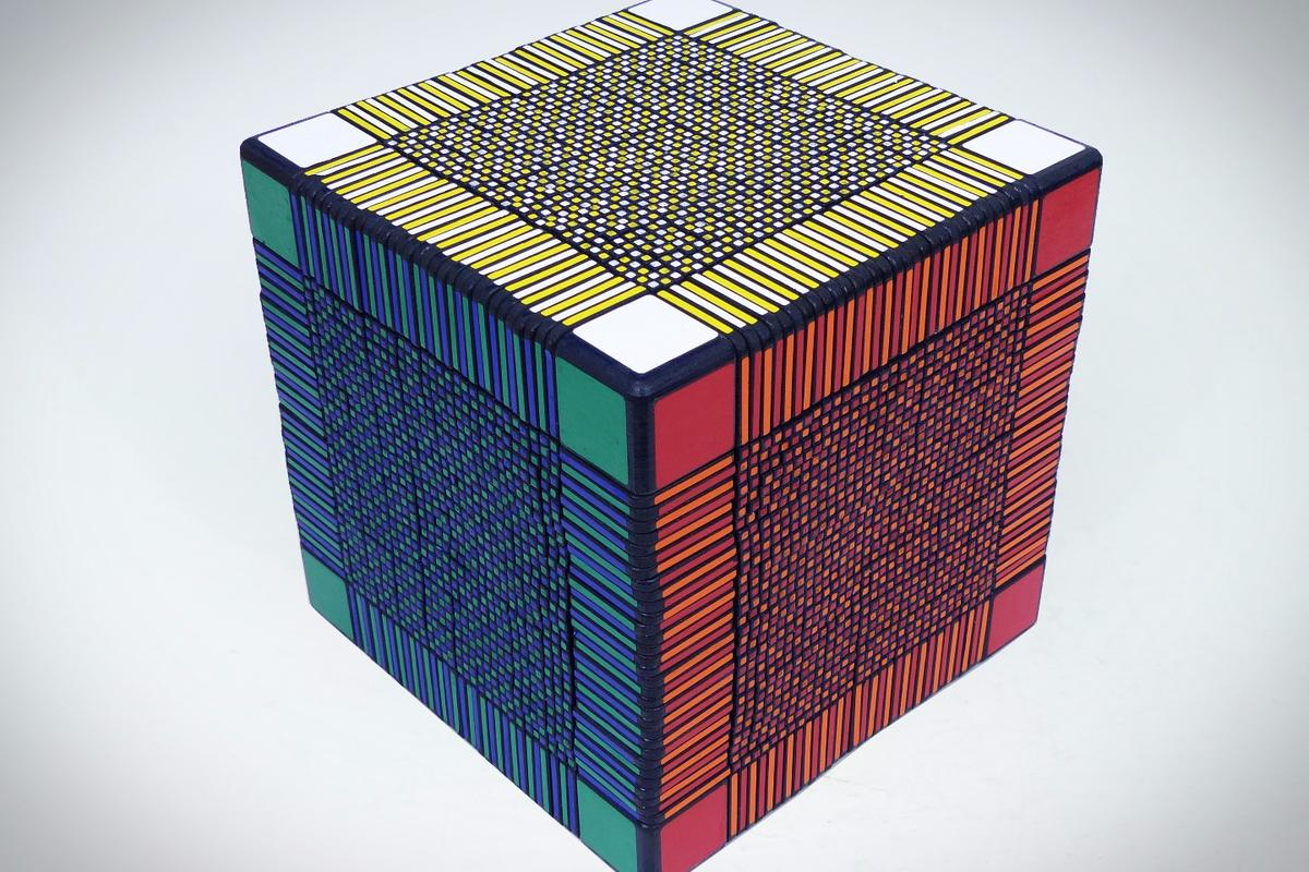 It could take many hundreds of hours to solvethe 33 x 33 x 33 twisty cube from Greg's Puzzles