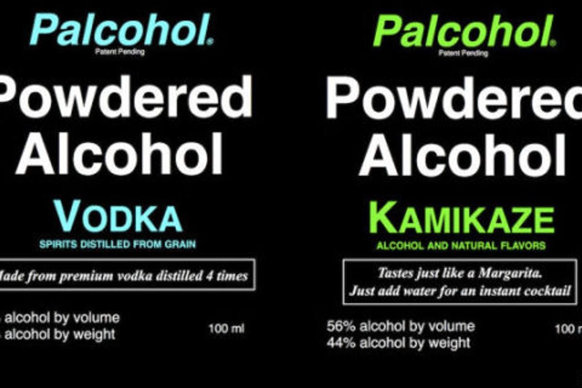 Palcohol's labels have been removed from the company website after reports that the product was approved by the US government in error