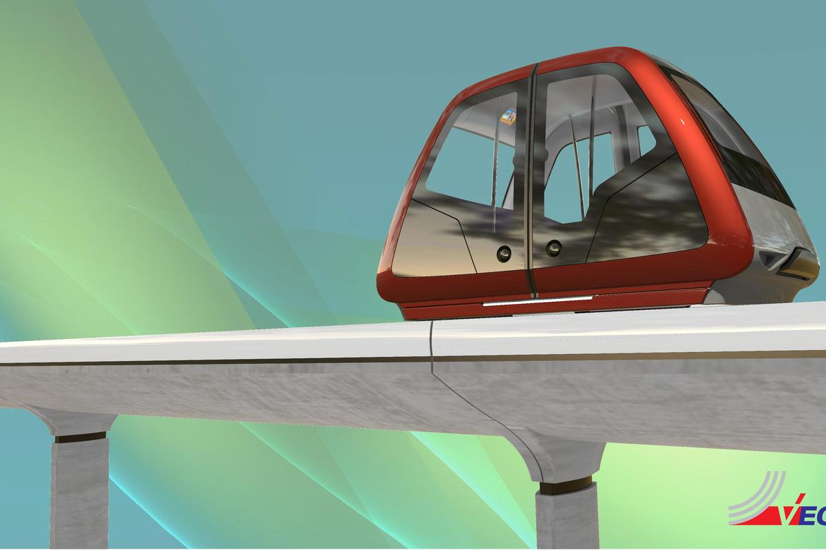 The Personal Rapid Transit concept was designed by Pininfarina and Vectus