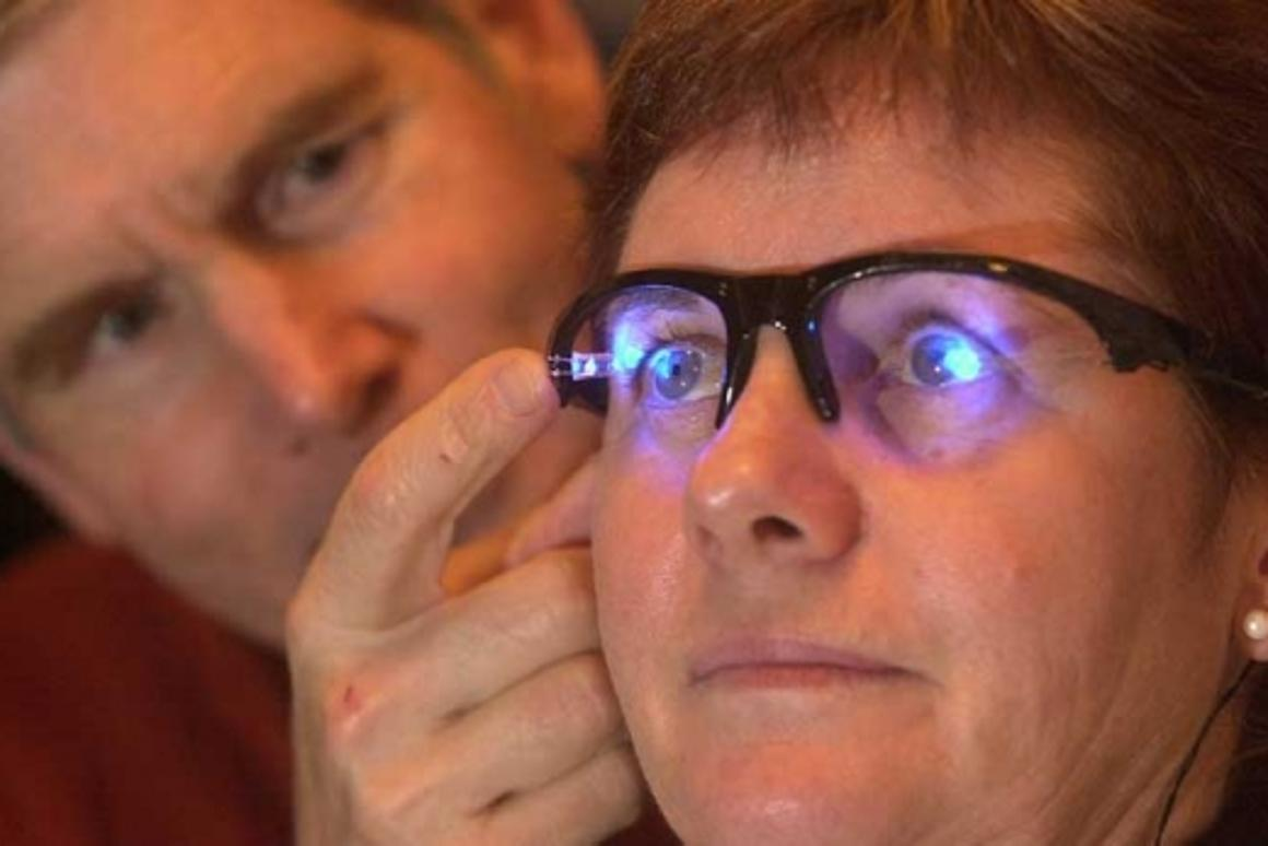 The LED light-glasses developed at Flinders University