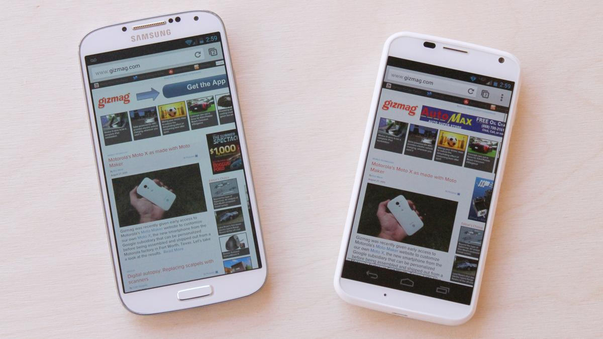 Gizmag digs deep, and compares just about every aspect of the Samsung Galaxy S4 and Motorola Moto X