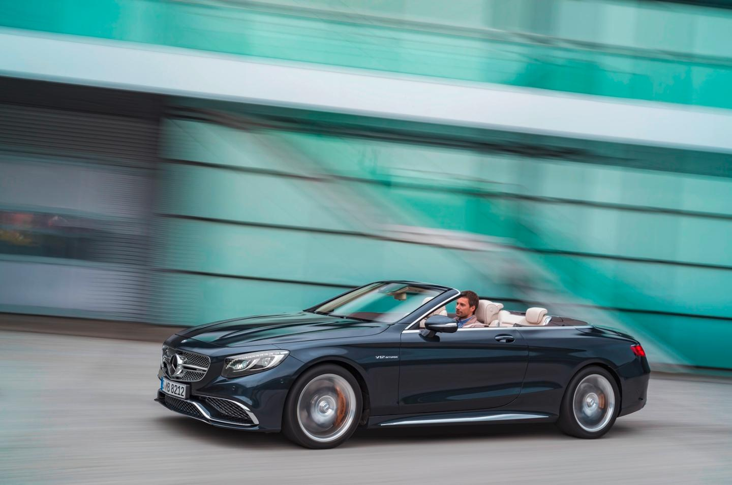 The S 65 Cabriolet has a top speed of to 250 km/h (155 mph)