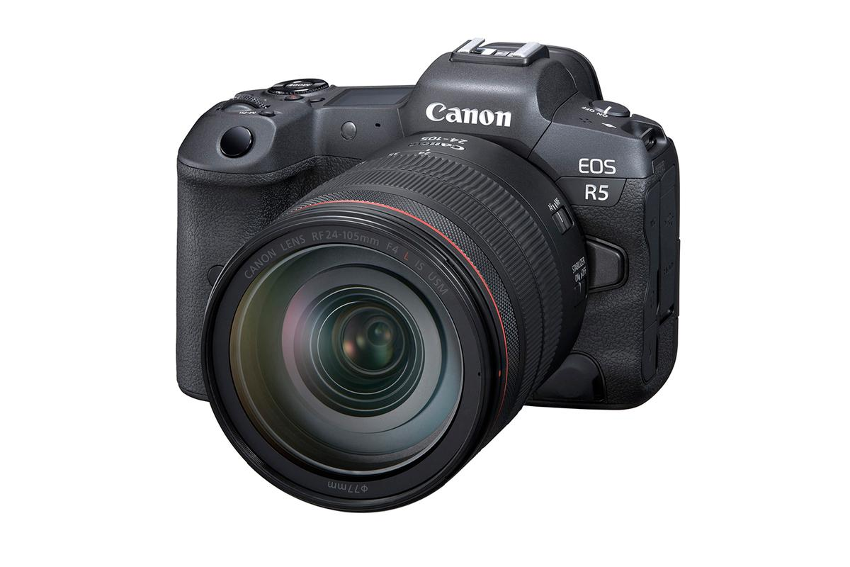 The EOS R5 full-frame mirrorless camera flagship (shown) has been launched alongside a less capable and cheaper sibling, the EOS R6