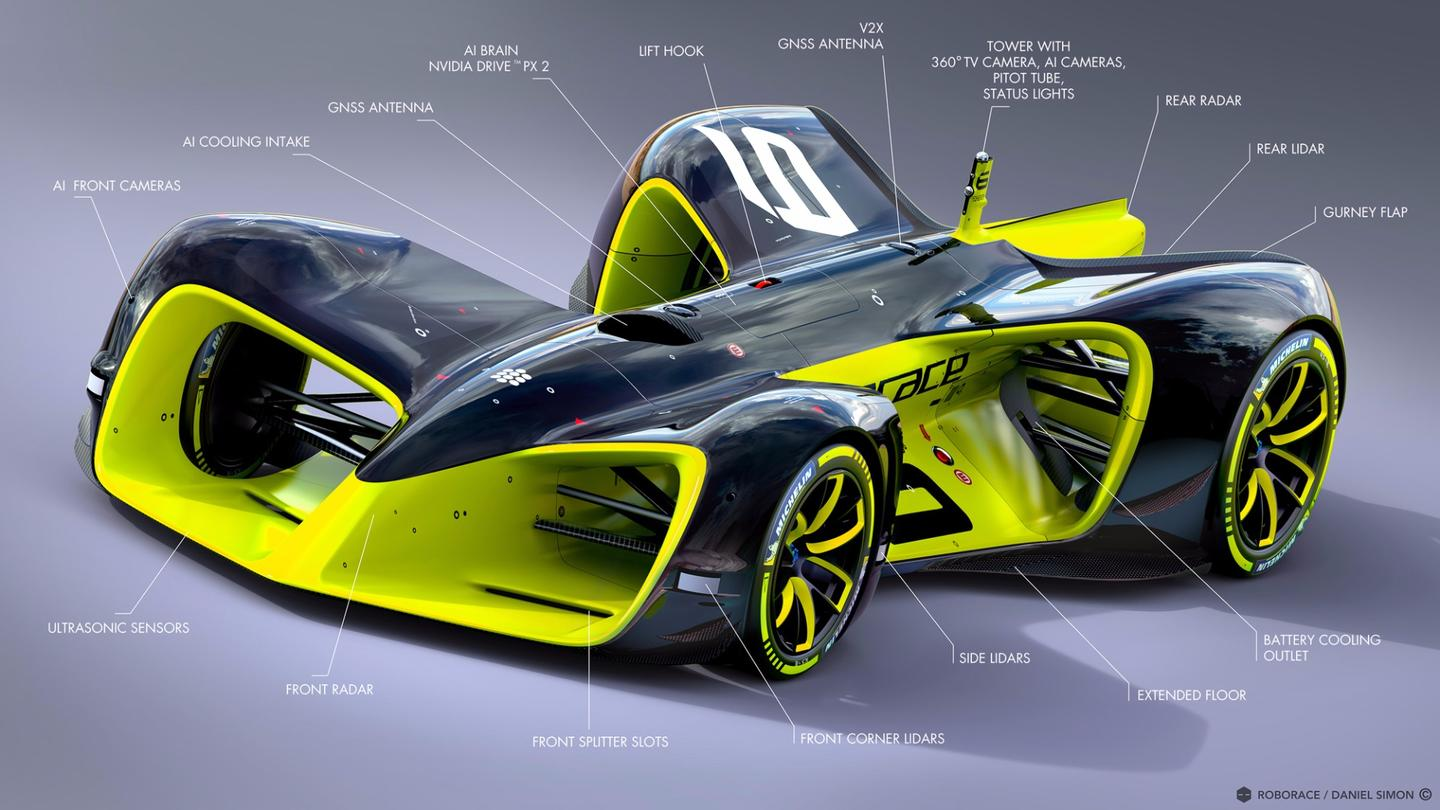 A look at what's lurking beneath the Roborace car's bodywork