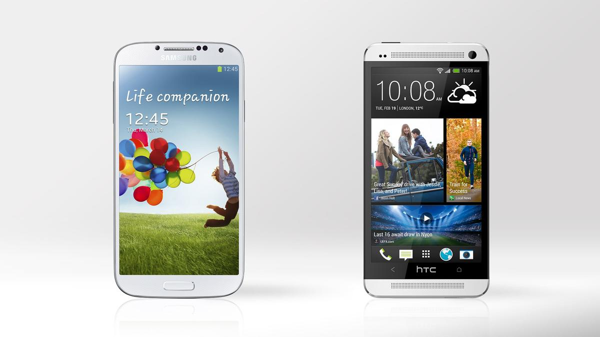 We compare the specs and features of the Samsung Galaxy S4 and HTC One