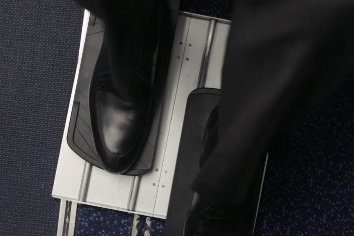The PediGlide lets users slide their feet back and forth ... without wearing a hole in their carpet