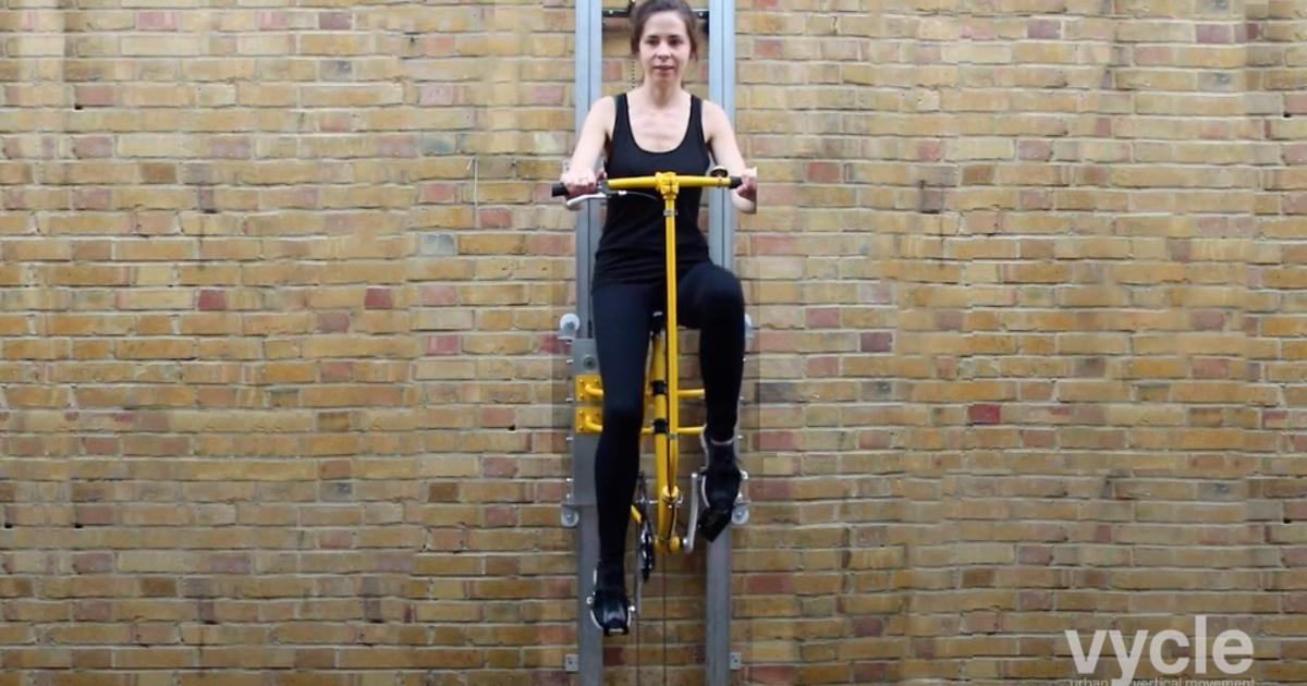 Bored of taking the stairs? Vycle would let you pedal between floors instead