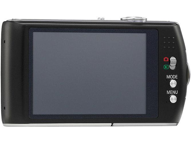 To the rear a 3 inch LCD touchscreen display and a few control buttons