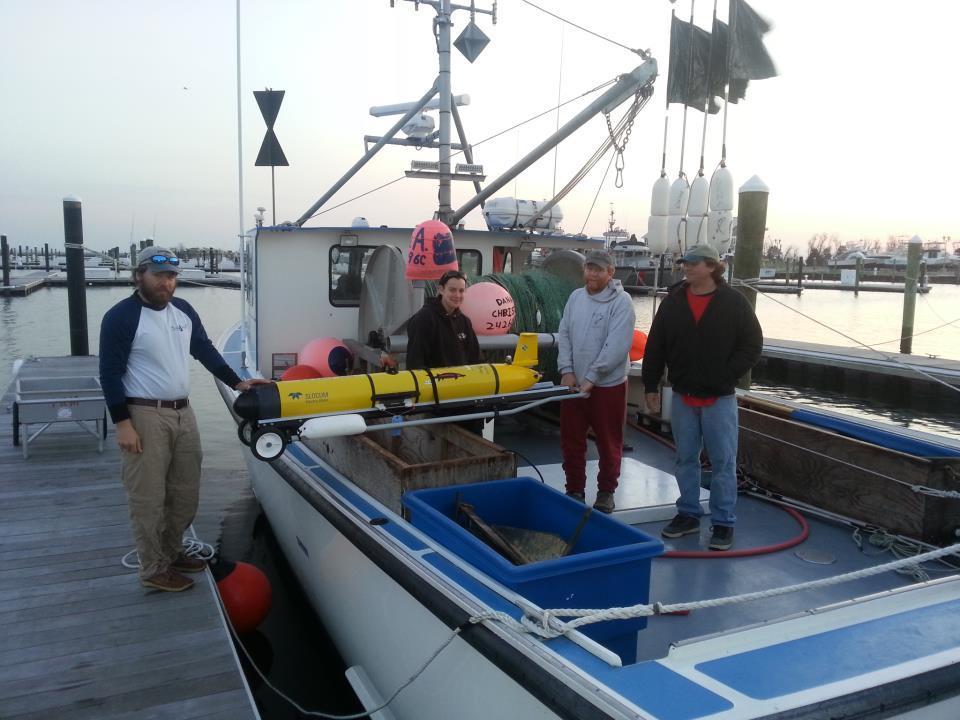 OTIS being loaded aboard a research vessel