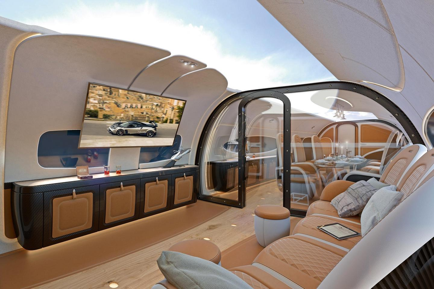Airbus and Pagani team on the Infinito cabin