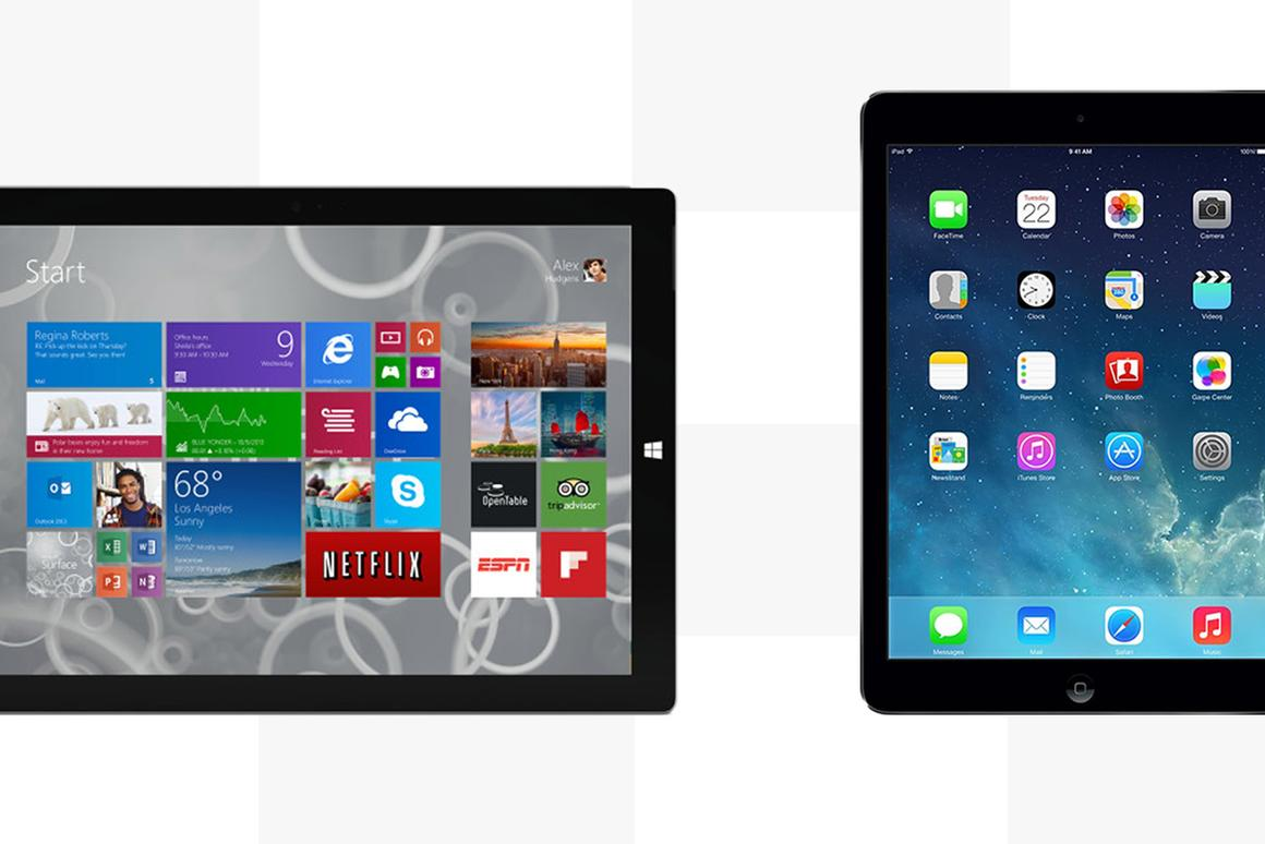 Gizmag compares the features and specs of the Microsoft Surface Pro 3 and Apple iPad Air