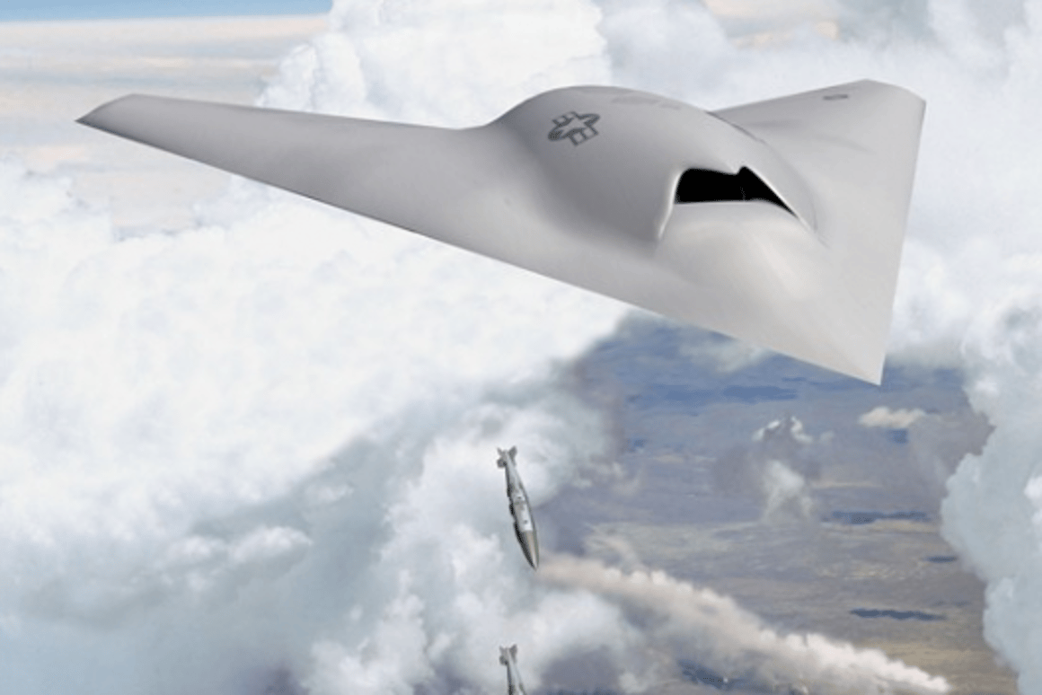 Artists rendition of the X-45C, the aircraft on which Phantom Ray will be based (Photo Credit: Boeing Company)