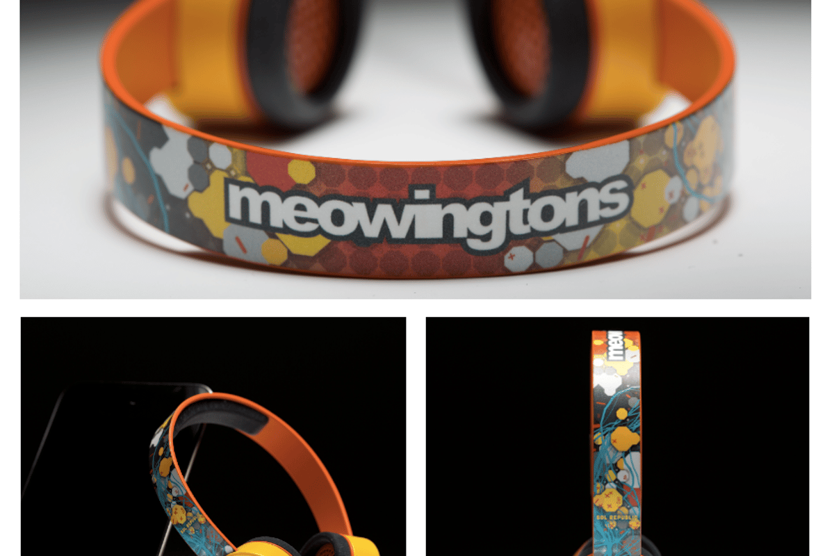 The Professor Meowington PhD Cat Headphones for the pampered pussy