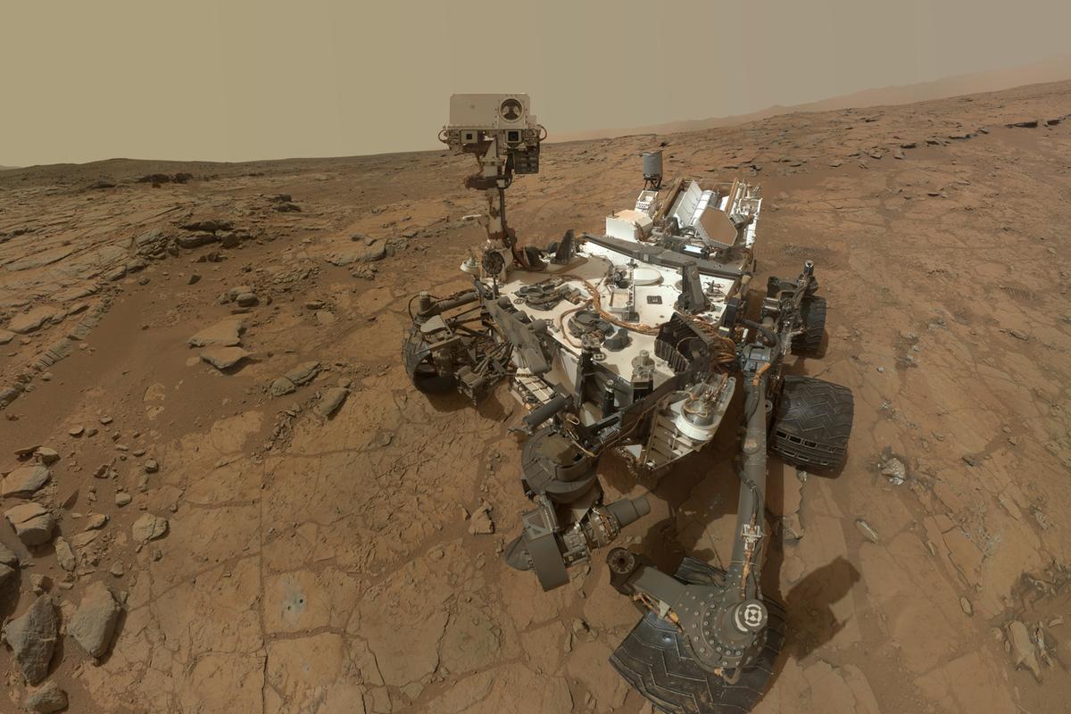 Self-portrait of NASA's Mars rover Curiosity taken on February 3 (Image: NASA)