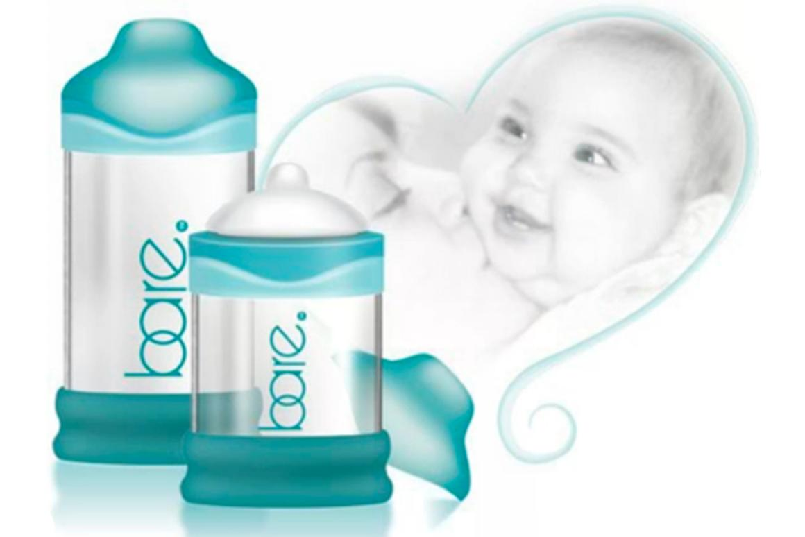 The BARE baby bottle is designed to better emulate the shape, texture and functionality of a mother's breast