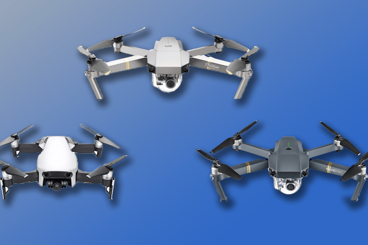 New Atlas compares the specs and features of DJI's Mavic Air, Mavic Pro and Mavic Pro Platinum drones
