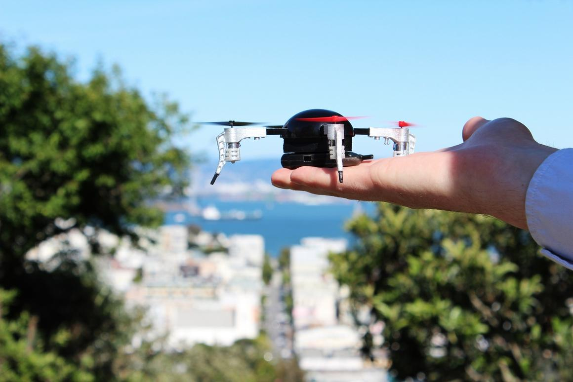 The Micro Drone 3.0 shoots video at 720x1280 at 30 fps stabilized by what the company claims to be the world's smallest gimbal