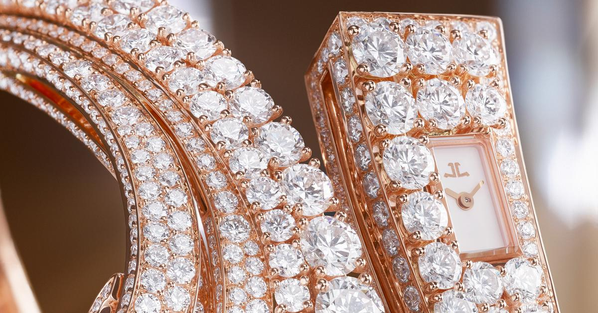 Diamond encrusted watches use world's smallest mechanical movement