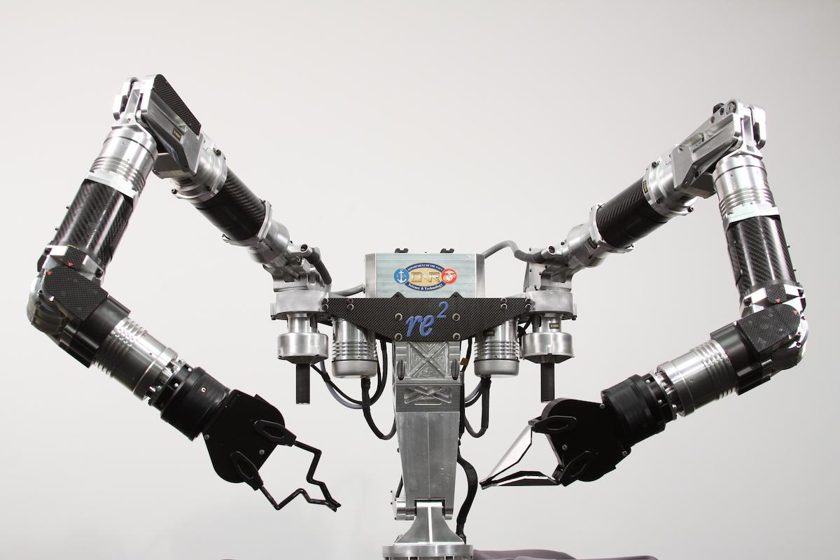 RE2 Robotics is moving into Phase II of developing an Underwater Dual Manipulator system for bomb disposal, like the Highly Dexterous Manipulation System (pictured) used on dry land