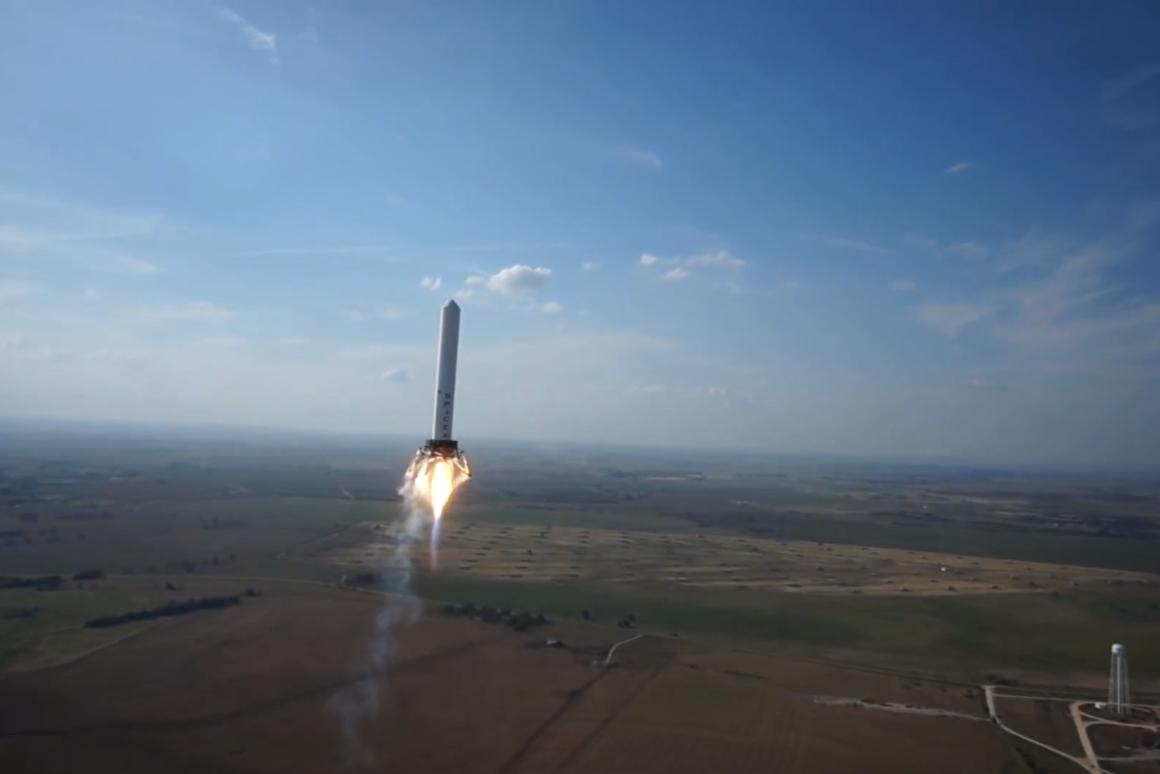 The SpaceX Grashopper on its most recent test flight