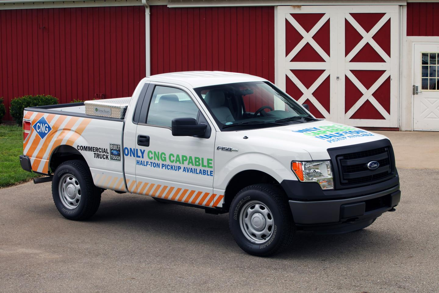The 2014 Ford F-150 gets a dual-fuel CNG option